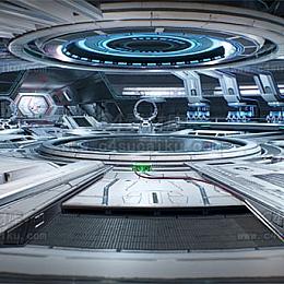 C4素材网首发-科幻场景背景素材C4D工程-2