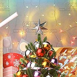 C4素材网-圣诞节C4D工程