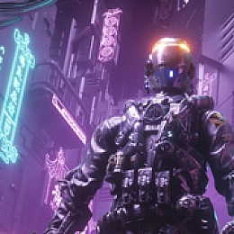 C4素材网-夜景机器人byAlan