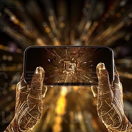 Octane渲染器C4D科幻手机线条场景工程