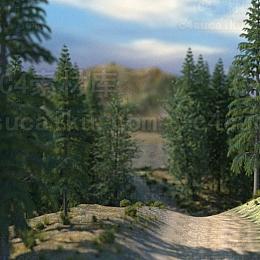 Octane渲染器花草树木自然风光森林植物山脉场景工程