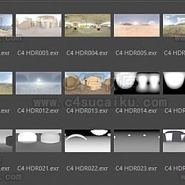 C4素材网自制高清环境常用HDR预设