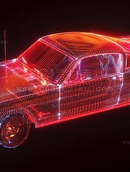 Octane渲染器科幻汽车hud线条工程