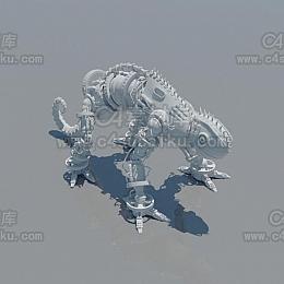 科幻机械蜥蜴