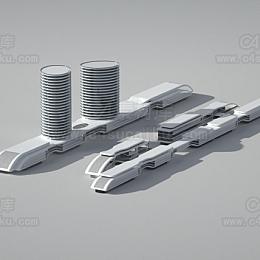 现代简约楼房模型