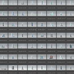 现代城市楼房建筑模型预设包