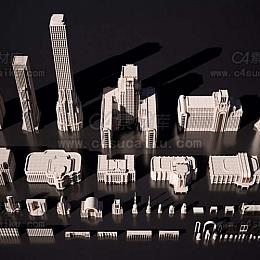 欧美建筑景观装饰艺术景观3D模型合集