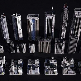 新东京摩天大楼巨型建筑空间概念包
