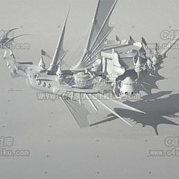 东方玄幻轮船模型