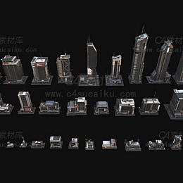 C4素材库-新上海城市建筑模型