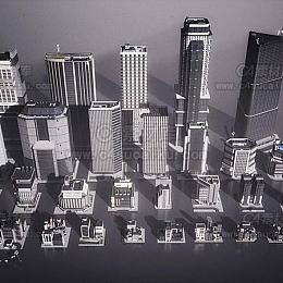 C4素材库-新东京建筑城市高楼大厦建筑3d模型