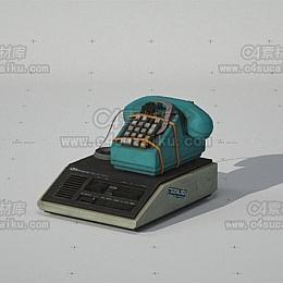 C4素材库-老式电话模型
