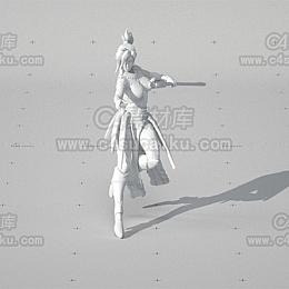 C4素材库-女战士模型