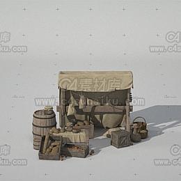 C4素材库-欧洲中世纪街道场景