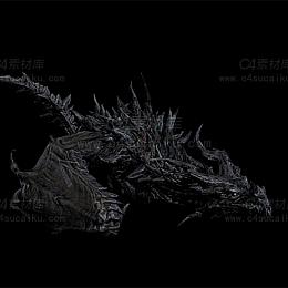 C4素材库-飞龙模型【带动画】