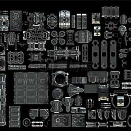 C4素材库-400套机械模型素材