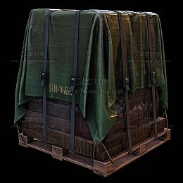 C4素材库-空投箱货物箱