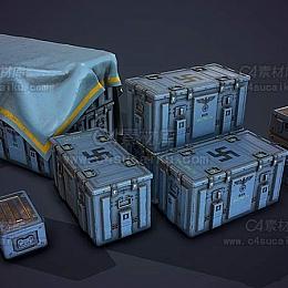 C4素材库-破旧收纳盒