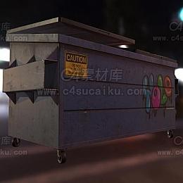 C4素材库-垃圾箱模型