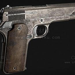 C4素材库-手枪-2C4D模型