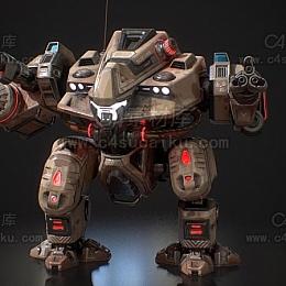 C4素材库-机甲C4D模型
