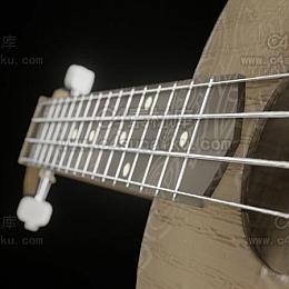 C4素材库-吉他C4D模型