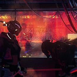 二更小分队-机械漫画风格人物C4D工程byRealTimeJ