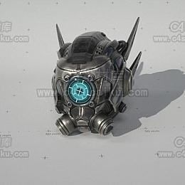 C4素材库-头盔C4D模型