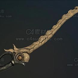 C4素材库-长剑C4D模型02