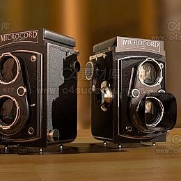C4素材库-莱卡相机C4D模型