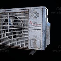 C4素材库-空调外机C4D模型