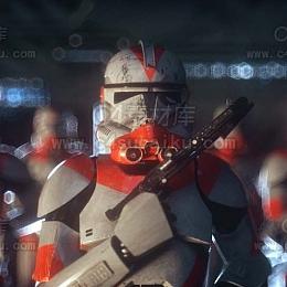 二更小分队-星战风格人物C4D工程byRealTimeJ