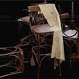 C4素材库-竹编椅子C4D模型02