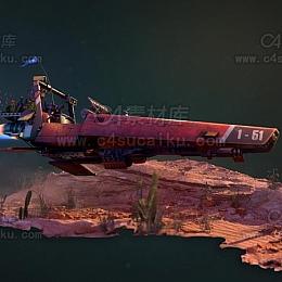 C4素材库-太空飞船C4D模型05