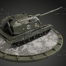 C4素材库-坦克C4D模型