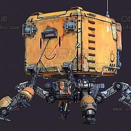 C4素材库-科技太空驾驶舱C4D模型