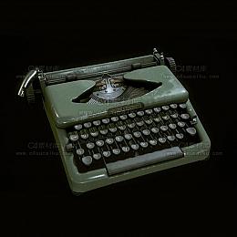 C4素材库-老式打字机C4D模型