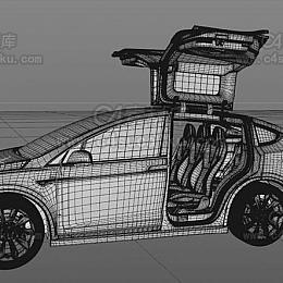 C4素材库-特斯拉汽车C4D模型