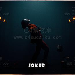 二更小分队-暗黑小丑风格人物C4D工程byNarang