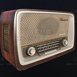 C4素材库-收音机C4D模型