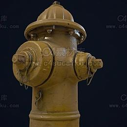C4素材库-消防栓C4D模型