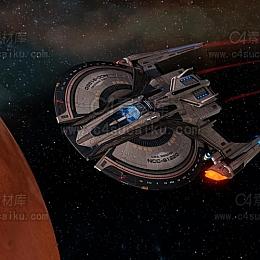 C4素材库-外形飞船科技C4D模型-2