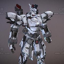 C4素材网-高达人物角色C4D模型