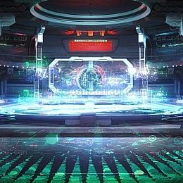 C4素材网首发-科幻场景背景素材C4D工程