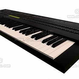 C4素材网-电子钢琴C4D模型