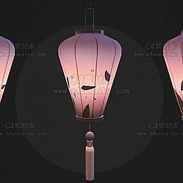 C4素材网-灯笼C4D模型