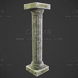 C4素材网-石柱C4D模型