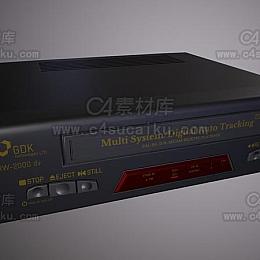 C4素材网-CD播放器C4D模型