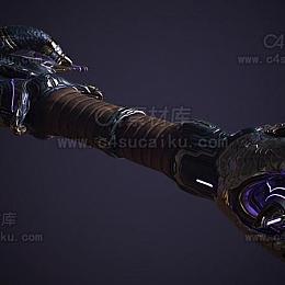 C4素材网-长剑C4D模型