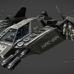 C4素材网-战斗机飞机C4D模型-3